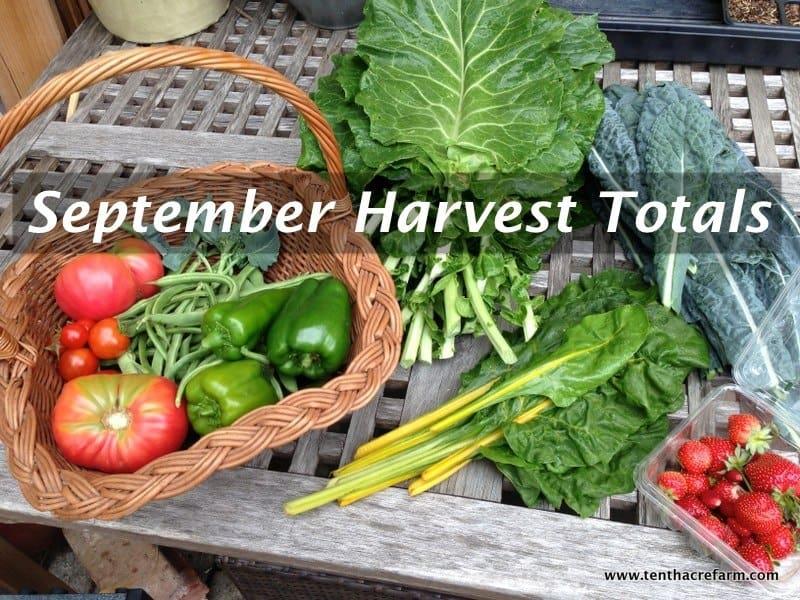 September Harvest Totals